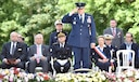 PARIS – U.S. Air Force Gen. Frank Gorenc, U.S. Air Forces in Europe-Air Forces Africa commander, salutes after laying a wreath during a Memorial Day ceremony at the Lafayette Escadrille Memorial, in Marnes-la-Coquette, France, May 28, 2016. During the ceremony, French and American speakers honored the shared sacrifices of U.S. and French service members fighting for each other's freedom and security in a relationship that began more than 240 years ago during the American Revolutionary War. (U.S. Air Force photo by Senior Master Sgt. Brian Bahret/Released)