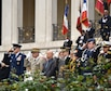 U.S. Air Force Gen. Frank Gorenc, U.S. Air Forces in Europe-Air Forces Africa commander, left, renders honors during a Memorial Day ceremony at the Suresnes American Cemetery, May 29, 2016. During the event guest speakers honored fallen servicemembers and acknowledged the enduring relationship the two countries forged during the American Revolutionary War. The cemetery is the final resting place for 1,565 Americans who fought and died in France during WWI and WWII.  More than 200 civilians, military members and official delegates from Poland, Vietnam, Japan, Germany, France and the United States attended the event. (U.S. Air Force photo by Senior Master Sgt. Brian Bahret/Released)