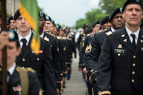 Approximately a hundred U.S. Army Reserve Soldiers march along Constitution Avenue in the 2016 National Memorial Day Parade in Washington, D.C., May 30. The Soldiers in formation were from the 200th Military Police Command, from Fort Meade, Maryland; the 55th Sustainment Brigade, from Fort Belvoir, Virginia; and the Military Intelligence Readiness Command, from Fort Belvoir. (U.S. Army photo by Master Sgt. Michel Sauret)