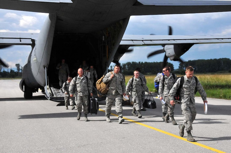 U.S. Air Force and Massachusetts Air National Guard members, previously stationed at Amari Air Base, Estonia,  reunite with their 104th Fighter Wing members stationed to Graf Ignatievo, Bulgaria, on the flightline at Graf Ignativevo, Bulgaria, May 27, 2016.  Wing members are part of a theater security package deployed to multiple European locations in support of Operation Atlantic Resolve.  Operation Atlantic Resolve focuses on conducting training alongside NATO allies and partners to strengthen interoperability and demonstrate U.S. commitment to a Europe that is whole, free, at peace, secure and prosperous. (U.S. Air Force photo by Senior Airman Loni Kingston/Released)