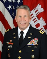 Lt. Gen. Todd Semonite, Chief of Engineers and the Commanding General of the U.S. Army Corp of Engineers, poses for a command portrait in the Army portrait studio at the Pentagon in Arlington, VA, May 17, 2016.  (U.S. Army photo by Monica King/Released)
