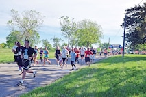 More than 350 Fort Riley community members participated in Run for the Fallen May 7 at Riley's Conference Center. Toward the end of the race, participants could place flags in remembrance of those who paid the ultimate sacrifice.