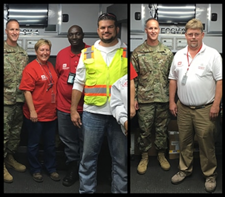 Dennis Hughes and Todd Newman were part of a team that briefed Maj. Gen. Michael Wehr, Mississippi Valley Division, Commanding General, in the Deployable Tactical Operations System (DTOS) during his most recent on-site visit. The DTOS is located at the staging yard for Mobile Home Units that are being placed in support of flood recovery in Baton Rouge, LA.