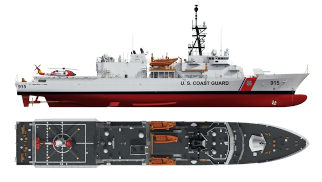The Offshore Patrol Cutter (OPC) is critical to the future of the Coast Guard's offshore fleet and will replace the service's aging fleet of medium endurance cutters, some that are in excess of 50 years old. The Coast Guard awarded a contract to Eastern Shipbuilding Group, Inc., of Panama City, Florida, Sept. 15, 2016, for the production of the lead OPC and up to eight follow-on cutters. The OPC is a pivotal element to our Western Hemisphere Strategy. The Coast Guard interdicts more illegal drugs than all other federal, state, and local law enforcement agencies combined. A key element of our offshore enforcement strategy is the presence of flight deck-capable ships with a robust communications suite and sea-keeping ability, capable of operating in the farthest reaches of the drug transit zone. The OPC is designed to fill this need. (Eastern Shipbuilding image)