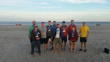 A U.S. Army Engineer Research and Development Center's Cold Regions Research and Engineering Laboratory team recently ran a relay from the White Mountains to the coast of New Hampshire, covering a distance of approximately 200 miles. The team, participating in the Reebok Ragnar Reach The Beach Relay, battled sore legs and sleep deprivation running 203 miles, covering the distance in 27 hours, 42 minutes finishing 60th out of a total 475 teams participating.