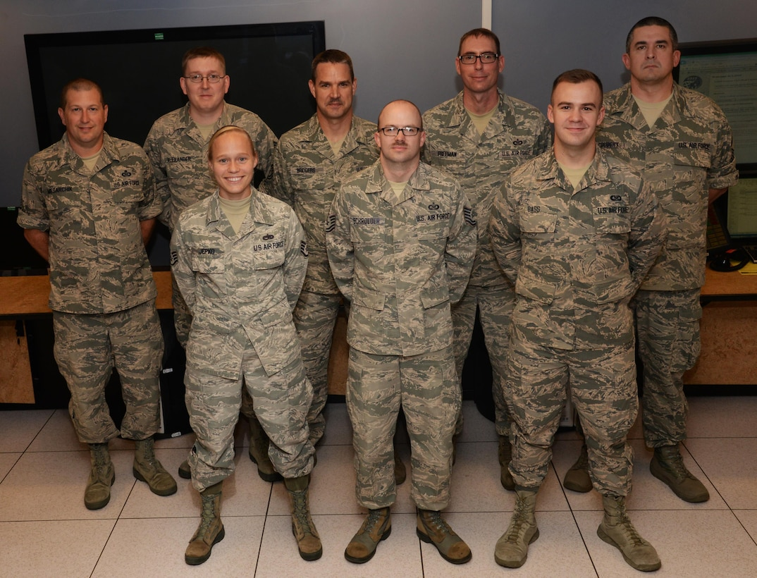The Maxwell command post combines active duty, Reserve, Air National Guard and civil service into one fighting force to better fulfil the 42nd Air Base Wing and 908th Airlift Wing's missions. The command post implemented the total-force program in 2011, utilizing Airmen from both the active duty and reserve wings on the base. (U.S. Air Force photo/ Senior Airman Alexa Culbert)