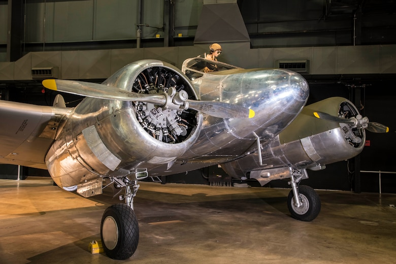 DAYTON, Ohio -- Beech AT-10 Wichita on display in the WWII Gallery at the National Museum of the United States Air Force. (U.S. Air Force photo by Ken LaRock)