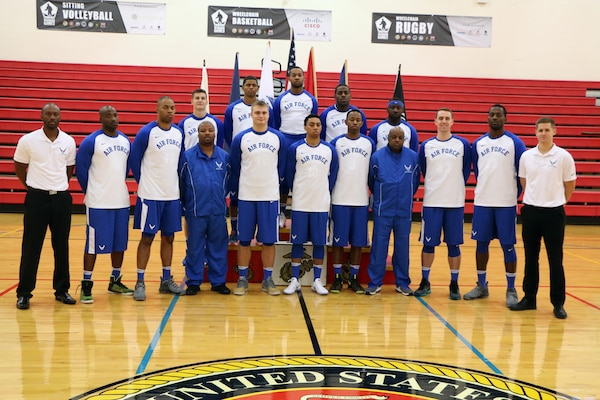 U.S. All-Air Force Men's Basketball Team.  The 2016 Armed Forces Men's Basketball Championship held at MCB Quantico, Va. from 1-7 November.  The best two teams during the doubel round robin will face each other for the 2016 Armed Forces crown.