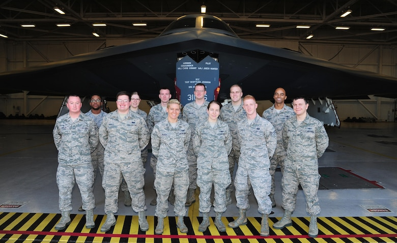 4th Space Operations Squadron team members visit Whiteman Air Force Base, Missouri, to see the impact of their space operations firsthand. The Airmen toured the B-2 Spirit stealth bomber, 509th Wing Command Post and a former Minuteman II Launch Control Center. (Courtesy photo)