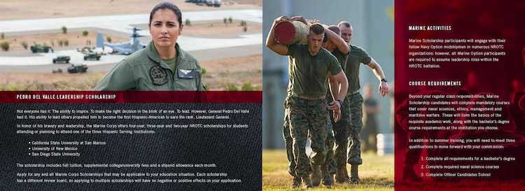 Corps Marine scholarship is one of many options to becoming a Marine ...