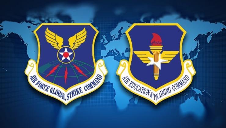 AFGSC and AETC shields