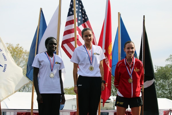 2nd Place: Pfc. Susan Tanui, Fort Riley, Kan. - 3:06:26 – Army; 1st Place: Capt Meghan Curran, Denver, Colo. - 2:53:19 – Army; 3rd Place: Capt Danielle Pozun, Camp Pendleton, Calif. - 3:07:23 – USMC. The 2016 Armed Forces Marathon is held in conjunction with the 41st Marine Corps Marathon on 30 October in Washington, D.C.