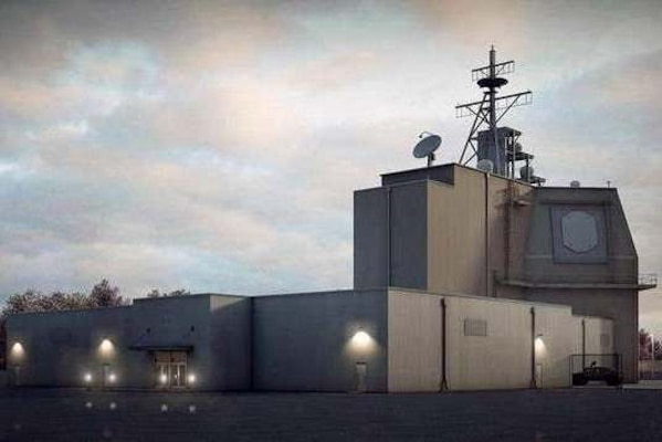 Pictured is a conceptual image of the Aegis Ashore installation in Romania. Navy construction builders used materials provided through DLA Troop Support's Construction and Equipment supply chain to build a camp for support personnel there.