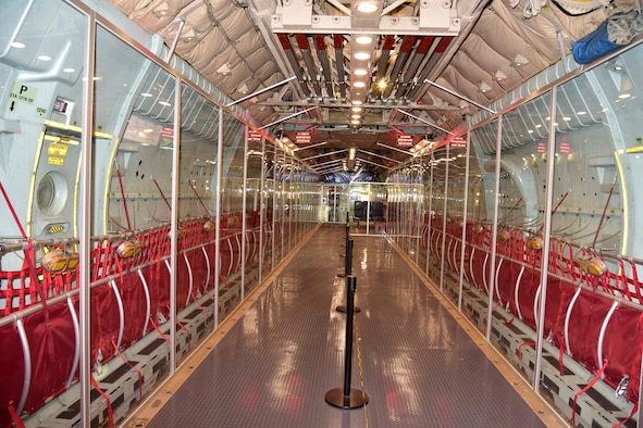 "DAYTON, Ohio -- Interior view of the Lockheed C-141C Starlifter ""Hanoi Taxi"" in the Global Reach Gallery at the National Museum of the United States Air Force. (U.S. Air Force photo by Ken LaRock)"