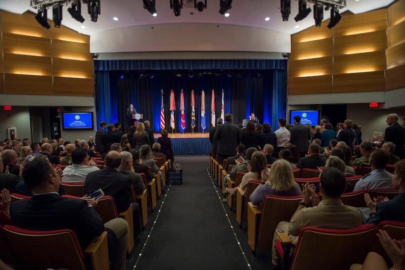 Deputy Defense Secretary Bob Work hosts the 61st Annual Department of Defense Distinguished Civilian Service Awards at the Pentagon, Nov. 3, 2016. DoD photo by Air Force Tech. Sgt. Brigitte N. Brantley