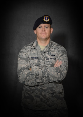 Second Lt. Ryan Cheney, 507th Security Forces Squadron, earned his lieutenant bars and was awarded the distinguished graduate award from Officer Training School at Maxwell Air Force Base, Ala. Cheney is a former senior noncommissioned officer in the 507th SFS and his journey to cross over to the commissioned ranks was not easy, but he credits his Air Force Reserve mentor and family for his success. (U.S. Air Force Photo/Tech. Sgt. Charles Taylor)