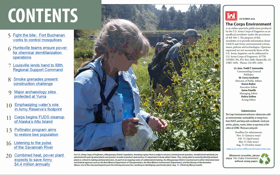 October 2016 issue of The Corps Environment is now available!