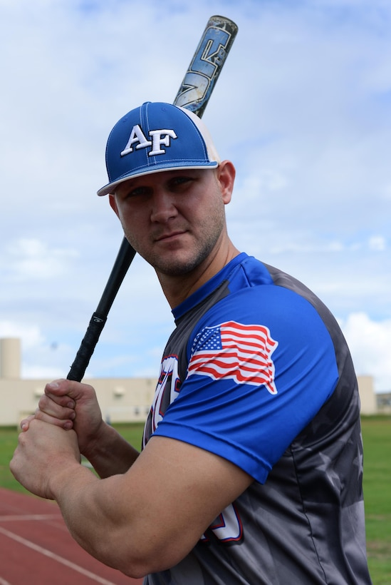 Staff Sgt. Garrett Gapp, 36th Maintenance Squadron, NCO in charge of maintenance flight, poses for a photo Oct. 31, 2016 at Andersen Air Force Base, Guam. Gapp was selected as a member of the All-Air Force Men's Slow Pitch Softball Team this year. (U.S. Air Force photo by Senior Airman Cierra Presentado/Released)
