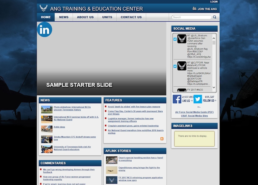 The I.G. Brown Training and Education Center is migrating to the Air Force Public Information Management System's latest web site version during the coming weeks, which improves the content displayed on its public web page, said public affairs officials. (U.S. Air National Guard image)