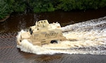 A mine resistant, ambush protected vehicle was used to extract people day and night from flooded areas in Florence County, North Carolina.