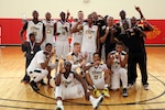 U.S. All-Army Men's Basketball Team defeats Air Force 67-61 to win gold. The 2016 Armed Forces Men's Basketball Championship held at MCB Quantico, Va. from 1-7 November.
