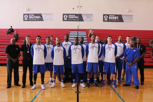 U.S. All-Air Force Men's Basketball Team.  The 2016 Armed Forces Men's Basketball Championship held at MCB Quantico, Va. from 1-7 November.  Air Force takes silver after Army won 67-61 in the championship game on Novemer 7th.