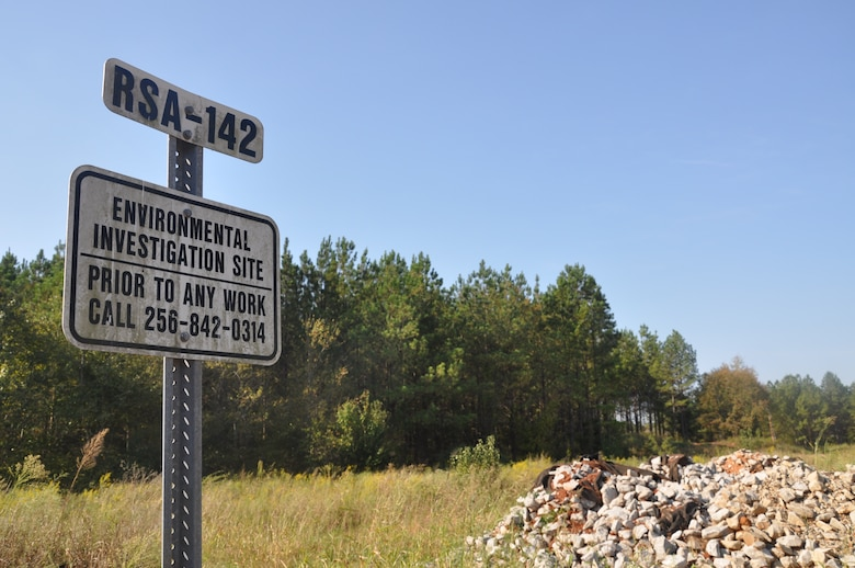 An environmental investigation site at Redstone Arsenal near Huntsville, Alabama that will undergo environmental remediation through a method called electrical resistance heating, a value-based cleanup method that shocks land to lift contaminants from the subsurface.