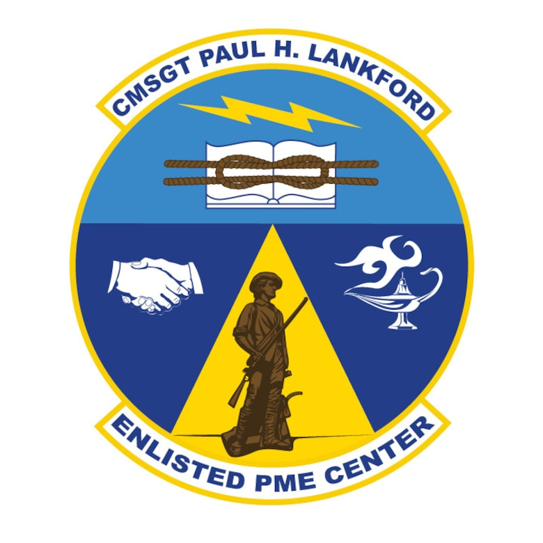 Chief Master Sergeant Paul H. Lankford Enlisted Professional Military Education Center official logo. (U.S. Air National Guard graphic.)