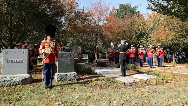 On Nov. 6, 2016, the Marine Band performed at John Philip Sousa's grave at Congressional Cemetery in Washington, D.C. in honor of the composer's 162nd birthday.