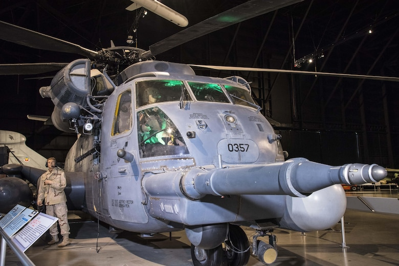 DAYTON, Ohio - Sikorsky MH-53M Pave Low IV on display in the Cold War Gallery at the National Museum of the U.S. Air Force. (U.S. Air Force photo by Ken LaRock)