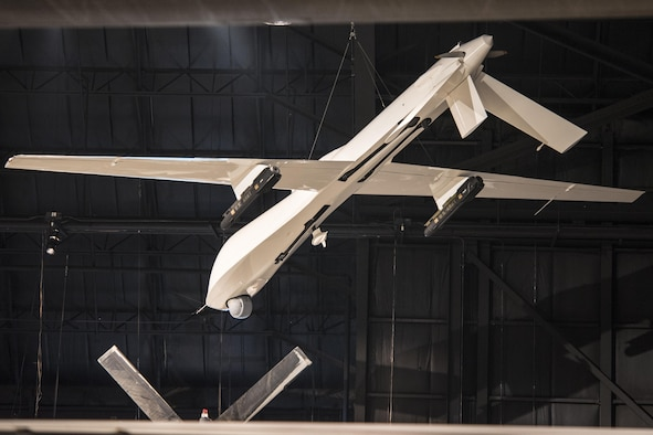 DAYTON, Ohio - General Atomics RQ-1 Predator on display in the Cold War Gallery at the National Museum of the U.S. Air Force. (U.S. Air Force photo by Ken LaRock)