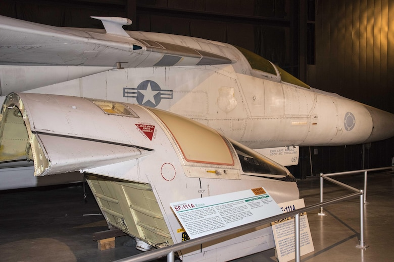 DAYTON, Ohio - The F-111A Escape Module on display in the Cold War Gallery at the National Museum of the U.S. Air Force. (U.S. Air Force photo by Ken LaRock)