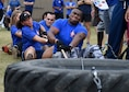 "The 59th Dental Group team pulls a 150-pound tire during the ""Latimus Maximus"" event Nov. 4 on Joint Base San Antonio-Lackland, Texas. The event was part of the 59th Medical Wing's Ultimate Warrior Medic Challenge, which pits the best overall warrior medics from each of the wing's seven group against each other in physical competition. (U.S. Air Force photo/Staff Sgt. Kevin Iinuma)"
