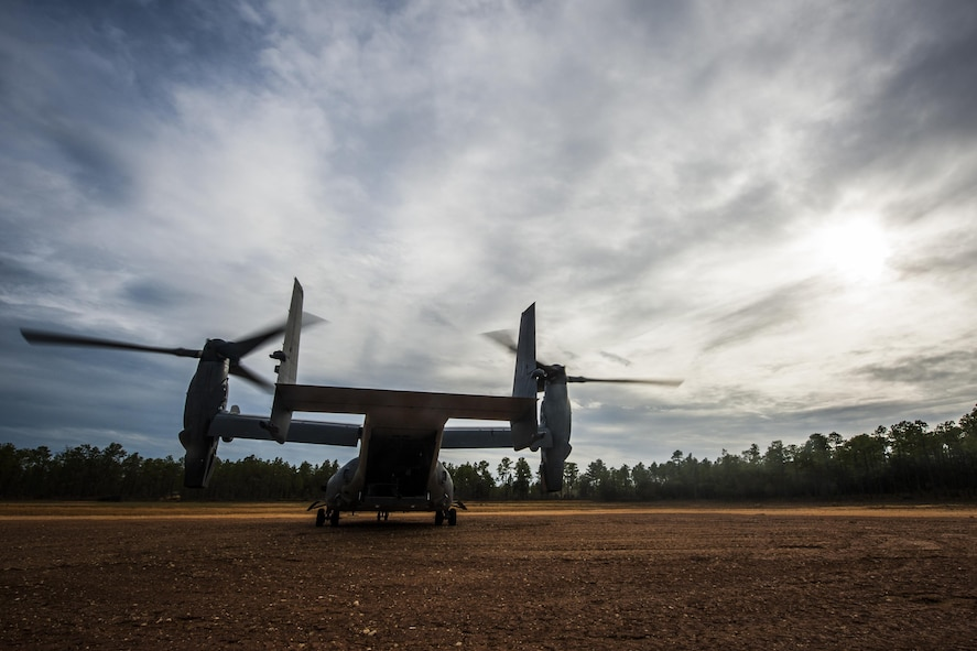 A CV-22 Osprey tiltrotor aircraft assigned to the 8th Special Operations Squadron conducts exfiltration and infiltration exercises at the Eglin Range, Fla., Nov. 8, 2016. The Osprey has been used operationally since 2006 to conduct long-range infiltration, exfiltration and resupply missions for special operations forces globally. (U.S. Air Force photo by Airman 1st Class Joseph Pick)