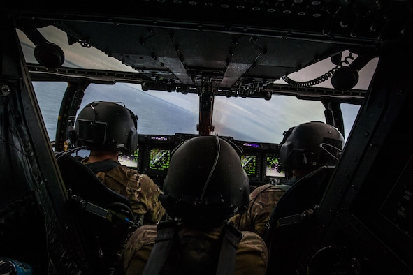 Air Commandos with the 8th Special Operations Squadron conduct a routine training mission in a CV-22 Osprey tiltrotor aircraft over Northwest Florida, Nov. 8, 2016. Aircrew with the 8th SOS conduct routine training flights to ensure their readiness to execute global special operations. (U.S. Air Force photo by Airman 1st Class Joseph Pick)