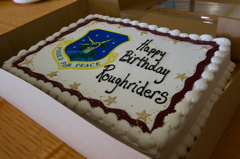 Members of the 91st Missile Wing celebrate the wing's 68th birthday at Minot Air Force Base, N.D., Nov. 9, 2016. Twentieth Air Force commander Maj. Gen. Anthony Cotton led a cake-cutting ceremony at the event. (U.S. Air Force photos/Senior Airman Apryl Hall)