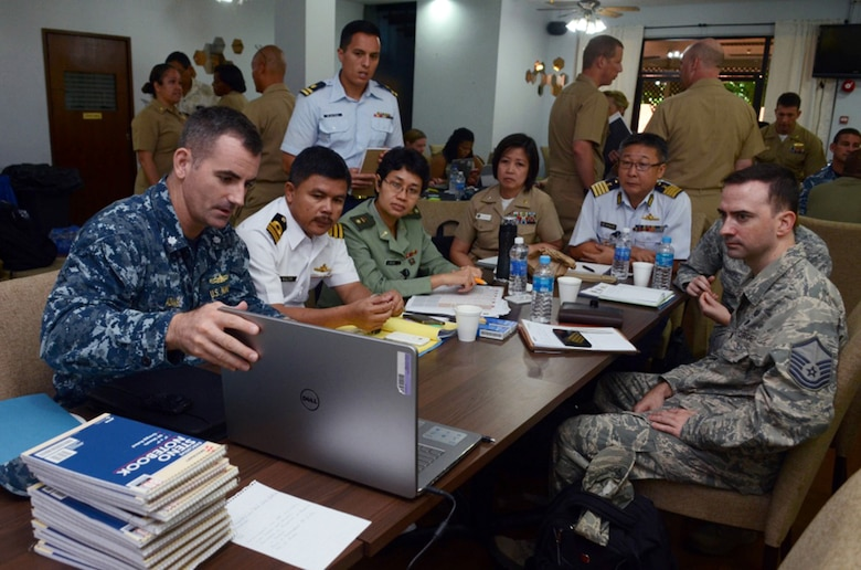 In this file photo, Cmdr. Gregory Adams, attached to Commander, Logistics Group Western Pacific/CTF73, participates in a planning conference for Pacific Partnership 2016 Feb. 23, 2016. Pacific Partnership is the largest annual multilateral humanitarian assistance and disaster relief preparedness mission conducted in the Indo-Asia-Pacific region.