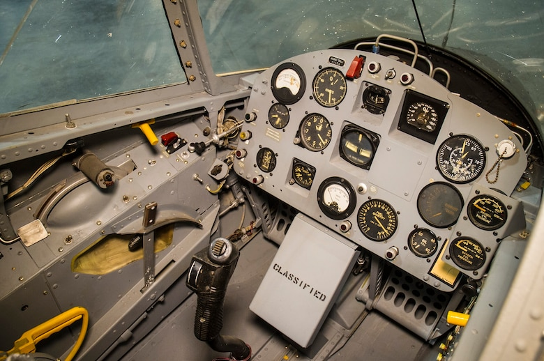 DAYTON, Ohio -- Ryan X-13 Vertijet cockpit in the Research & Development Gallery at the National Museum of the U.S. Air Force. (U.S. Air Force photo by Ken LaRock)