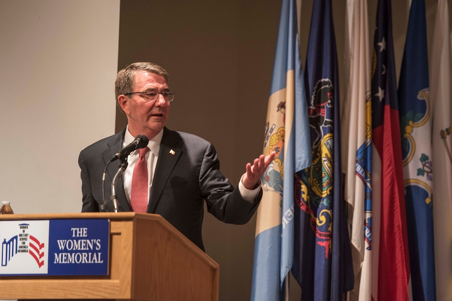 Defense Secretary Ash Carter speaks at the 19th annual Veterans Day ceremony