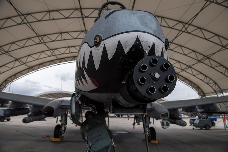 U.S. Air Force Reserve Lt. Col Robert Sweet, 476th Fighter Group A-10C Thunderbolt II pilot, performs a pre-flight inspection during a surge exercise, Nov. 9, 2016, at Moody Air Force Base, Ga. During the surge, the 23d and 476th Fighter Group's goal was to maximize the amount of flying missions, conducting approximately 300 totaling more than 500 flight hours. (U.S. Air Force photo by Airman 1st Class Janiqua P. Robinson)