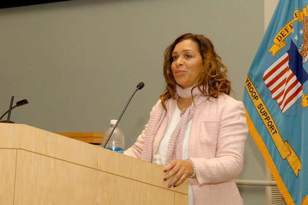 Stephanie McKinley encourages the NSA Philadelphia workforce to embrace indigenous cultures during the annual National American Indian and Alaska Native Heritage Month observance Nov. 10. McKinley is a linguist, global liaison and cultural connector who was born into the Baule Tribe in Abidjan, Cote d'Ivoire, West Africa.