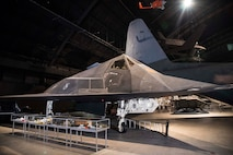 DAYTON, Ohio -- Lockheed F-117A Nighthawk on display in the Cold War Gallery at the National Museum of the United States Air Force. (U.S. Air Force photo by Ken LaRock)