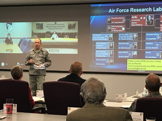 AFRL commander Major General Robert McMurry Jr., provided AFRL remarks at the AFRL-AFIT summit on Nov. 8, 2016.  The annual AFRL-AFIT summit is an opportunity for the two organizations to review the last year's collaborations and discuss new objectives.
