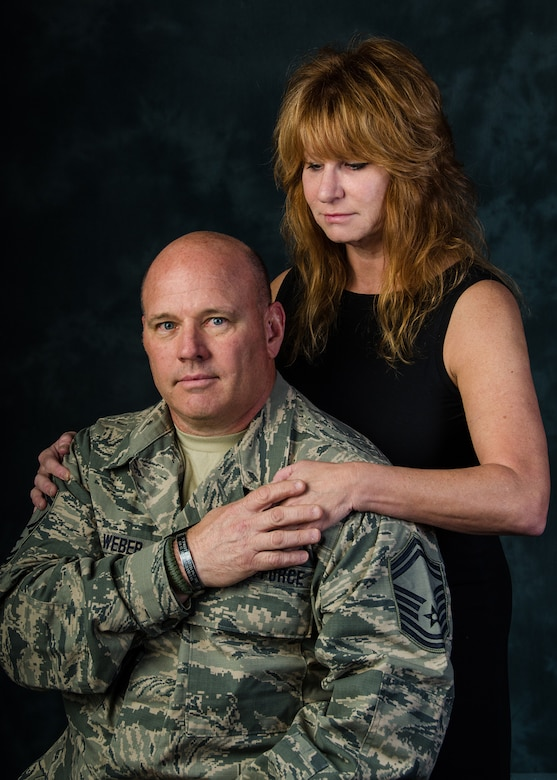 Retired 131st Bomb Wing Senior Master Sgt. Bob Weber credits his wife, Thomasine Weber, for providing social resiliency support to help him recover from injuries and following the loss of a fellow Missouri Guard member to an improvised explosive device during a deployment to Afghanistan. Weber was selected to lead five Air National Guard Airmen and 58 Missouri Army National Guard Soldiers as convoy escorts to ADT-IV in Nangarhar Province, Afghanistan. A goat and sheep farmer and a member of the Missouri National Guard, Army Sgt. 1st Class Robert W. Pharris went to Afghanistan with Missouri's Agri-Business Development Team-IV (ADT-IV) in 2010 to encourage agriculture infrastructure development in the war-torn country, and was killed in action by a roadside bomb Jan. 5, 2011. (U.S. Air National Guard photo by Airman 1st Class Halley Burgess)