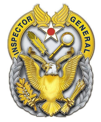 The Air Force Inspector General Badge is a duty badge authorized for wear by all personnel who are assigned to IG duty positions.