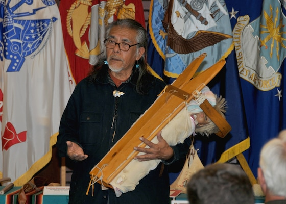 Guests Share Native American Songs Weapons Experiences Defense