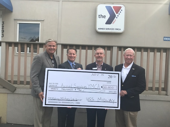 Camp Pendleton and the Armed Services Young Men's Christian Association recently received a $15,000 grant to put towards vital programs in support of Marines, Sailors and their families.