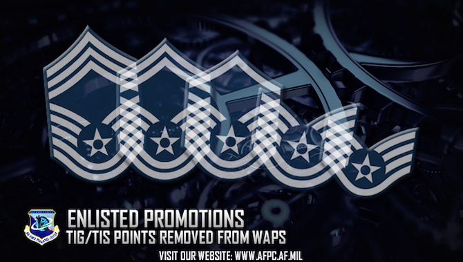 The Air Force will eliminate time-in-grade and time-in-service points effective with the 17E7 promotion cycle. This change is intended to ensure performance carries the most weight when calculating points for promotion selection. (U.S. Air Force graphic by Staff Sgt. Alexx Pons)