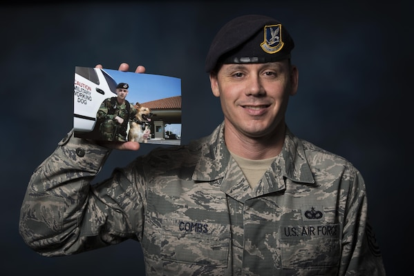 Tech. Sgt. Nathan Combs, 902nd Security Forces Squadron NCO in charge of resource protection, was diagnosed with testicular cancer in 2005 while serving as a military working dog handler at Joint Base San Antonio Randolph. Combs was notified in spring 2015 that he was considered cancer-free.