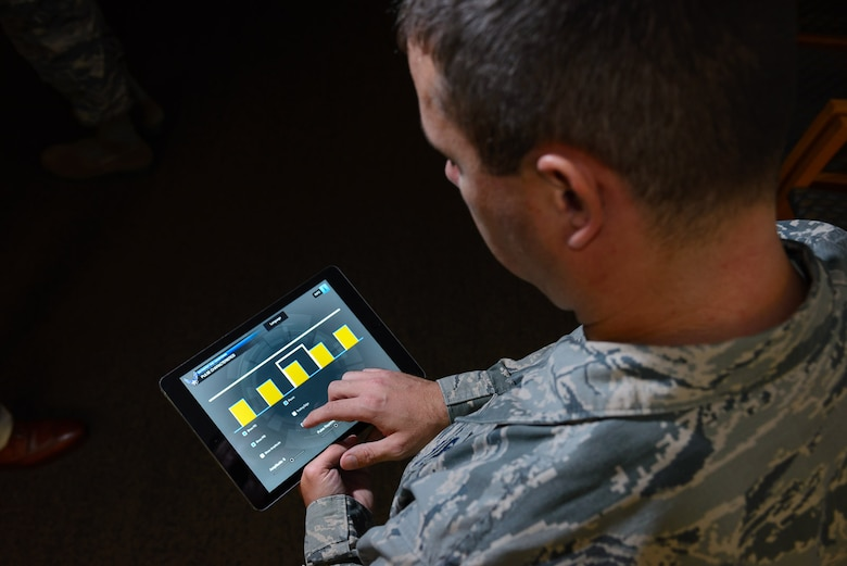 In response to frequent deployments, strains on the resources of both time and personnel, and the availability of sophisticated technological capabilities, the Air Force is increasingly looking to mobile learning. (U.S. Air Force Photo/William B. Belcher)